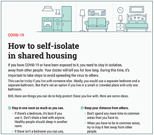 How to self-isolate