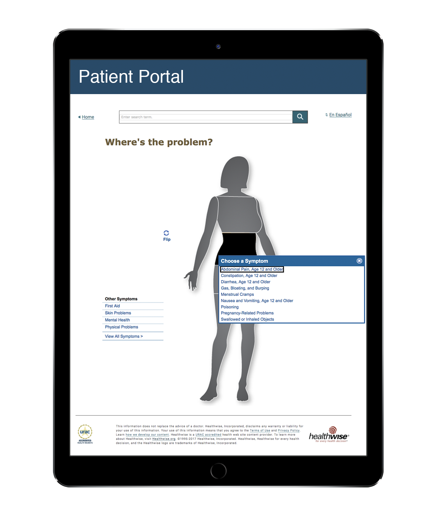 Patient portal on phone